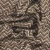 Cotton blue/brown zig zag pattern