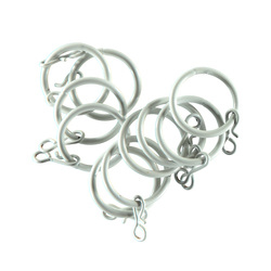 Curtain ring metal 30mm white 10pcs