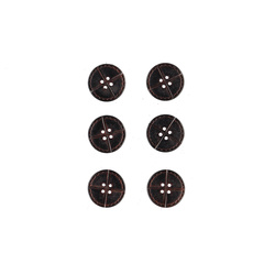 Button 4-holes 23mm dark brown 6pcs