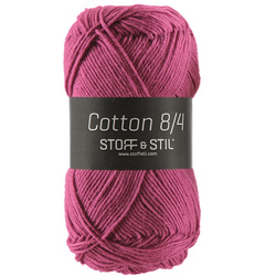 Garn Cotton 8/4 cerise.
