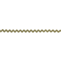 Ric rac ribbon 5mm gold w/lurex 3m