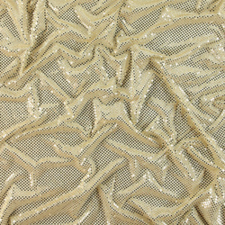 Knit with foil sequins creme