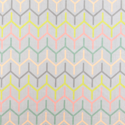 Micro fleece grey w multi colour zig zag