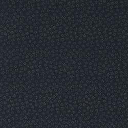 Cotton poplin navy with blurred flowers