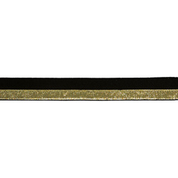 Folding elastic 20mm gold lurex/black 2m