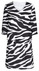 Chiffon off white/black big animal print