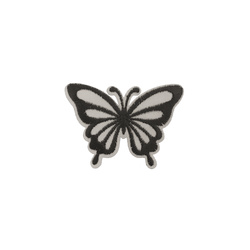 Patch butterfly reflector 68x49mm grey
