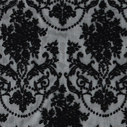 Lace black w mussel edging