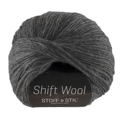 Garn shift wool mørk grå melange