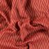 Jacquard red colour herringbone pattern
