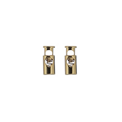 Schnurstopper Metall 23x10mm Gold 2 St.