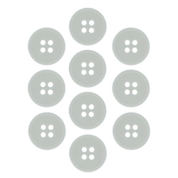Button 18 mm 4-holes white 10 pcs