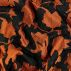 Woven jacquard orange w abstract flowers