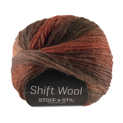 Garn shift wool brændt orange/brun mix