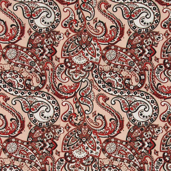 Woven viscose dusty powder paisley print