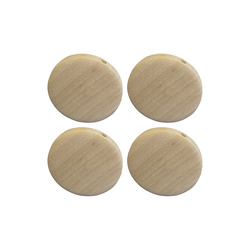 Beads wood dia. 34mm nature 4 pcs