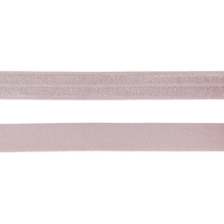 Folding elastic 14mm rose 3m