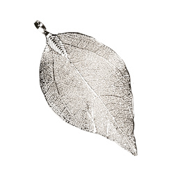 Pendant leave approx. 22x50mm silver 1pc