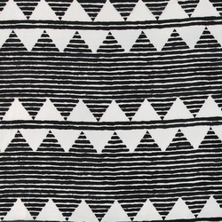 Chiffon black w white ikat pattern