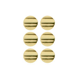 Shank button 18mm oxidised gold 6 pcs