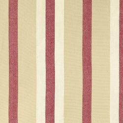 Yarn dyed cotton sand /red/white stripes