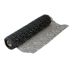 Table runner 37 cm black 5m