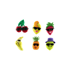Shank button 23mm Fruit cocktail 6pcs