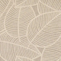 Woven oilcloth linenlook w sand leaves