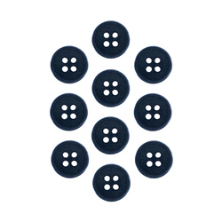 Button 15 mm 4-holes marine 10 pcs