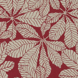 Linen look red w big leaves
