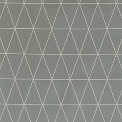 Non-woven oil cloth light grey w graphic