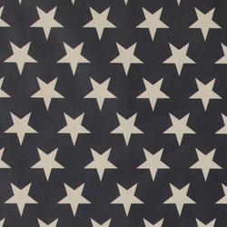 Woven oil cloth dark blue w nature stars