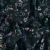 Stretch jersey dark blue w flowers/birds