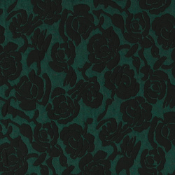 Knit jacquard green with flowers