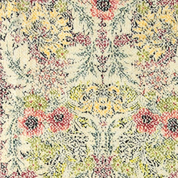 Woven cotton nature with flowers
