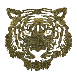 Patch Tiger 24x22cm gold 1pcs
